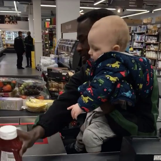 Grocery Store Clerk Helps Mom With Baby