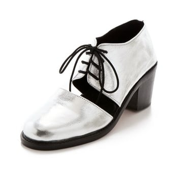For something with a bit more height, get these supercool Shakuhachi Split Oxfords ($295).