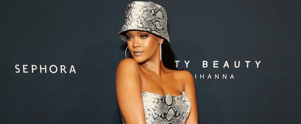Rihanna Snakeskin Versace Look at Fenty Beauty Event 2018