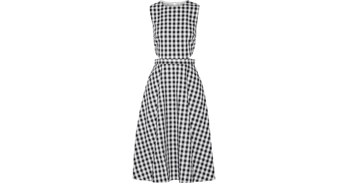 dfcf32188bc Tanya Taylor Monica cutout gingham cotton midi dress ( 253 ...