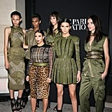 Kim and Kendall proved their place in the Balmain army during Paris Fashion Week in 2014.