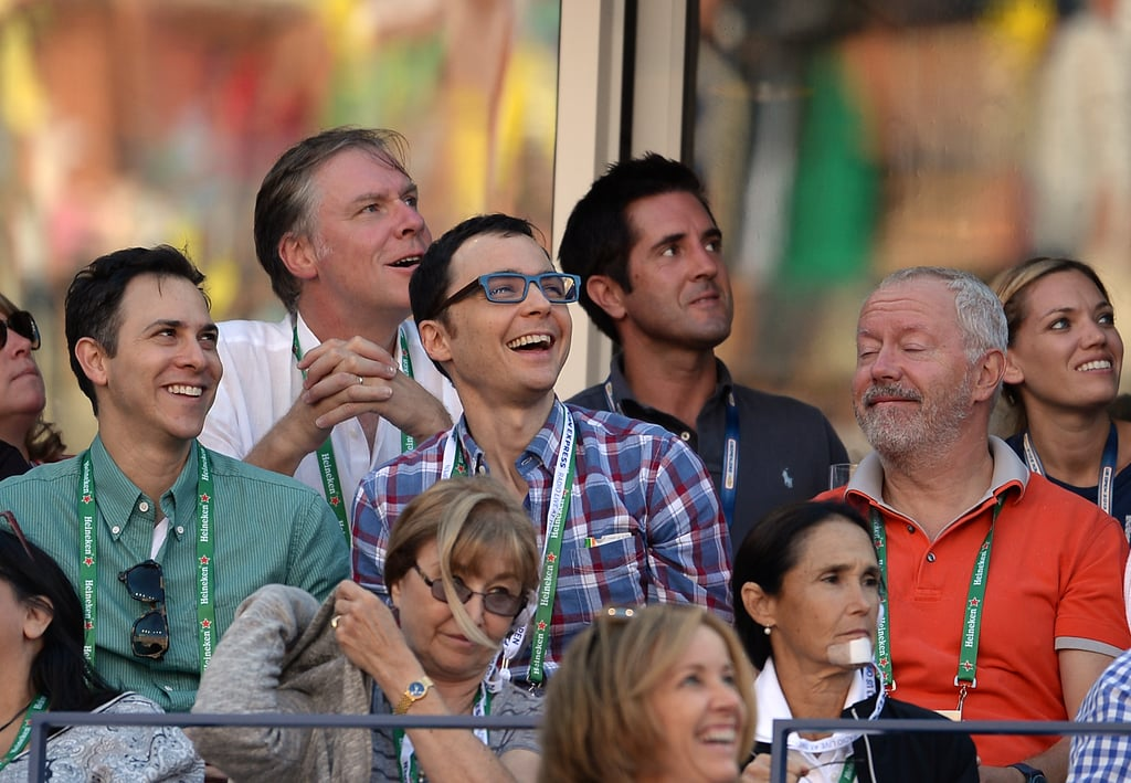 Jim Parsons smiled in the stands.