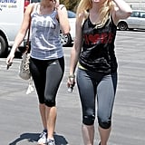 Jennifer Lawrence walked with a friend.