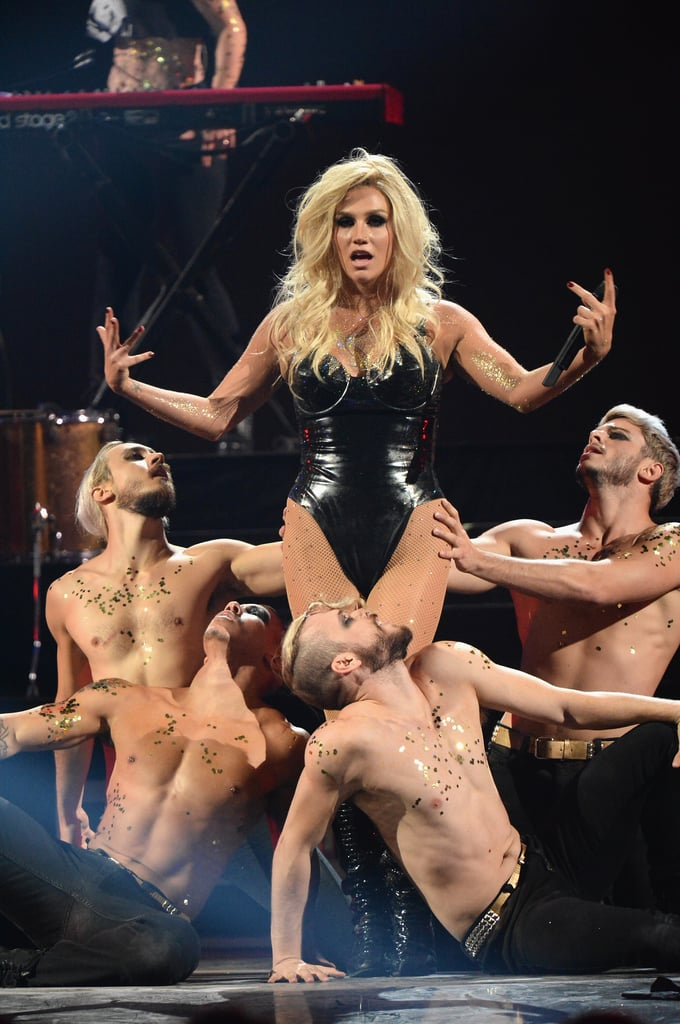 Ke$ha performed with male dancers.