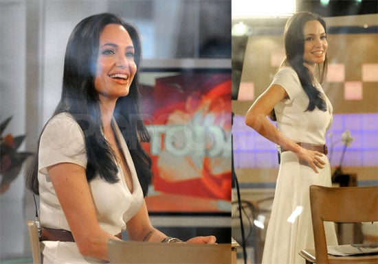 Photos and Video of Angelina Jolie Interviewed by Matt Lauer on The Today Show in New York City