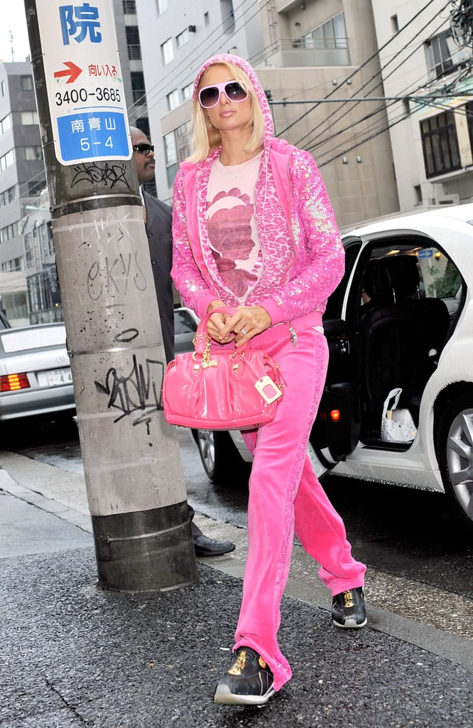 Pictures of Paris Hilton Wearing Tracksuits