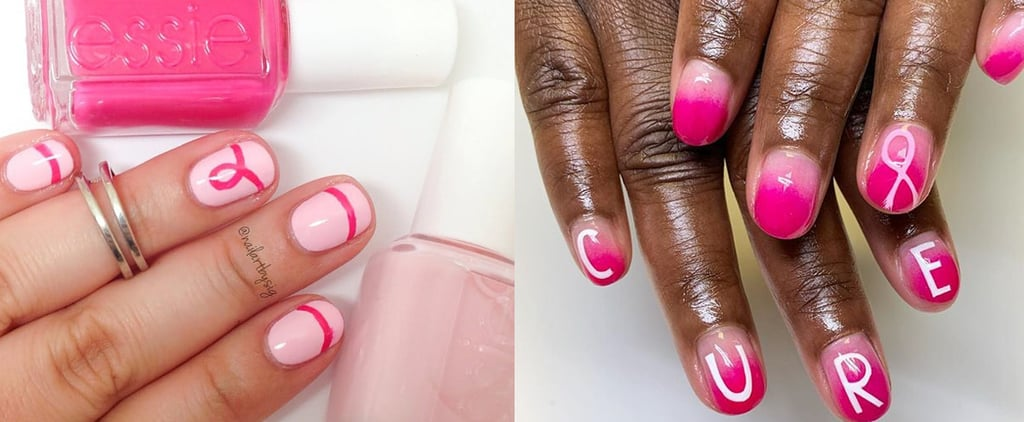 Breast Cancer Awareness Month Nail Art
