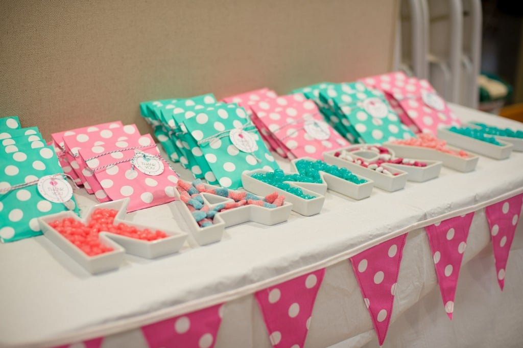 Polka-Dot Party Favors: Cookies and Candy