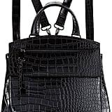 Neiman Marcus Kari Crocodile-Embossed Backpack