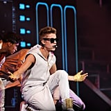 Justin Bieber hit the stage in Boston.