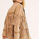 Brenda Knight Fringe Embroidered Jacket