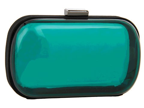 This BCBGeneration Lucite Clutch ($88) would be a cool contrast to a frilly party dress.