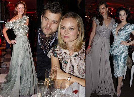 Photos of Carla Bruni Sarkozy, Dita Von Teese, Diane Kruger, Joshua Jackson, Mischa Barton at Fashion Dinner for AIDS