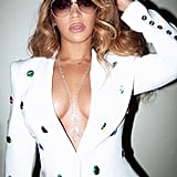 Beyoncé's White Blazer and Miniskirt February 2019