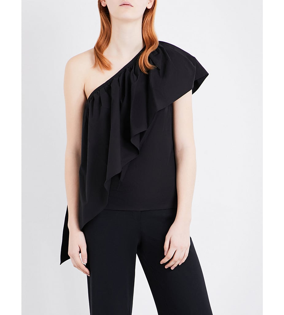 Rosie Assoulin Asymmetric Ruffled Cotton Top ($855)