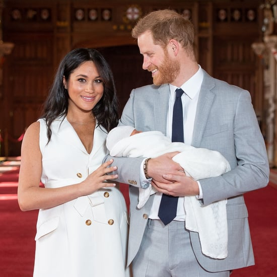 Meghan Markle White Trench Dress in Baby Pictures