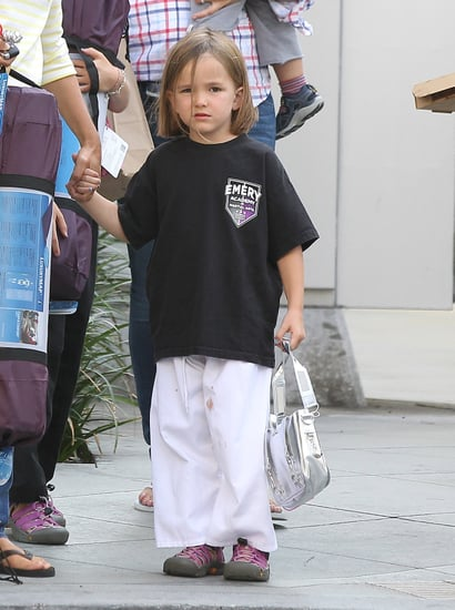 Seraphina-Affleck-sported-cute-karate-uniform