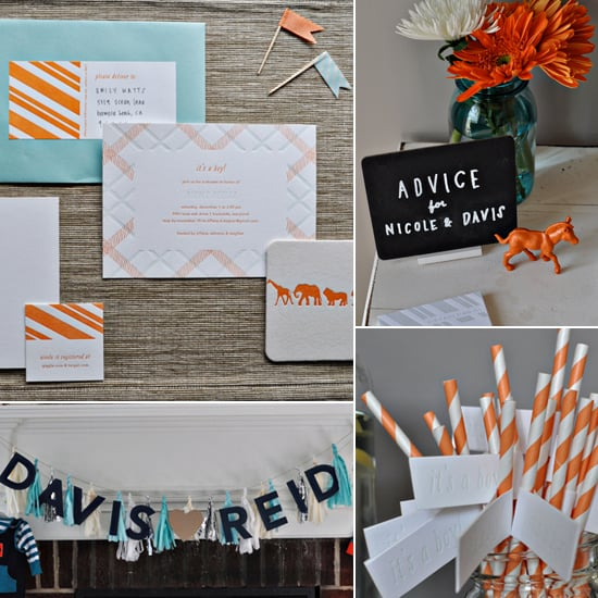 Baby Showers: A Simply Chic Orange-and-Blue Baby Shower
