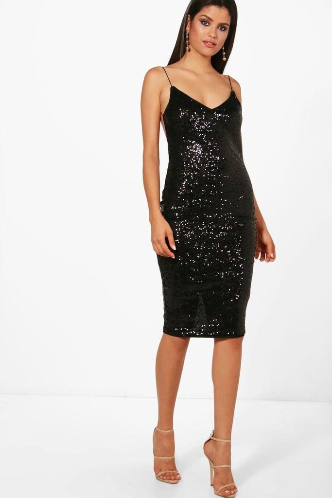 3b59ac5aff8 boohoo Maya Sequin Dress