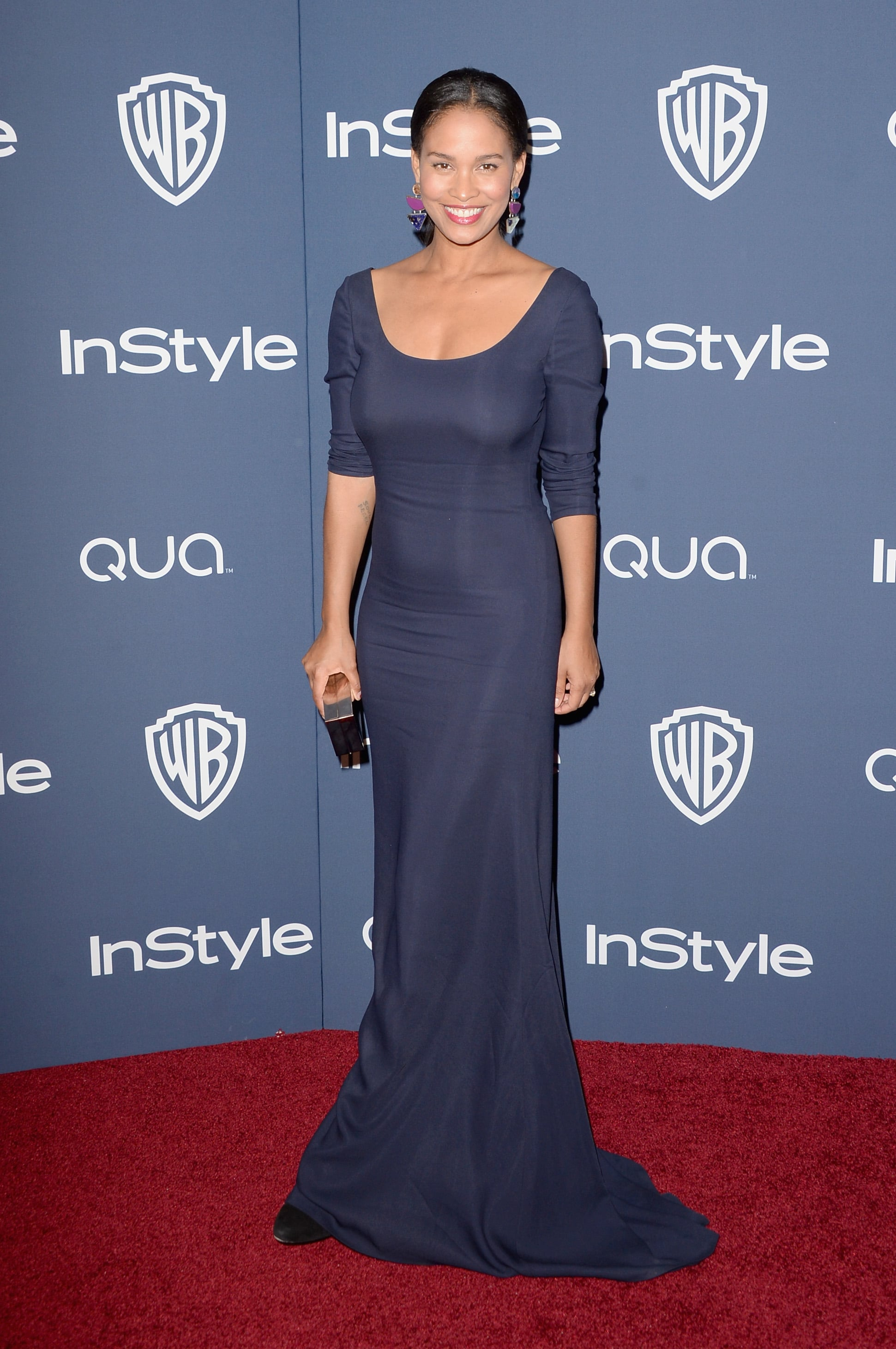 Joy Bryant at the InStyle Golden Globes party.