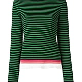 Stripes, check. Frill neckline, check. This trendy top ($304) is the perfect way to show off your holiday spirit.
