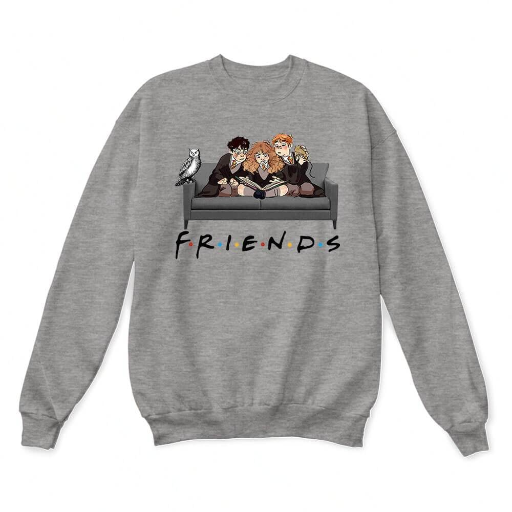 The Golden Trio Friends Harry Potter, Hermione, and Ron Sweater