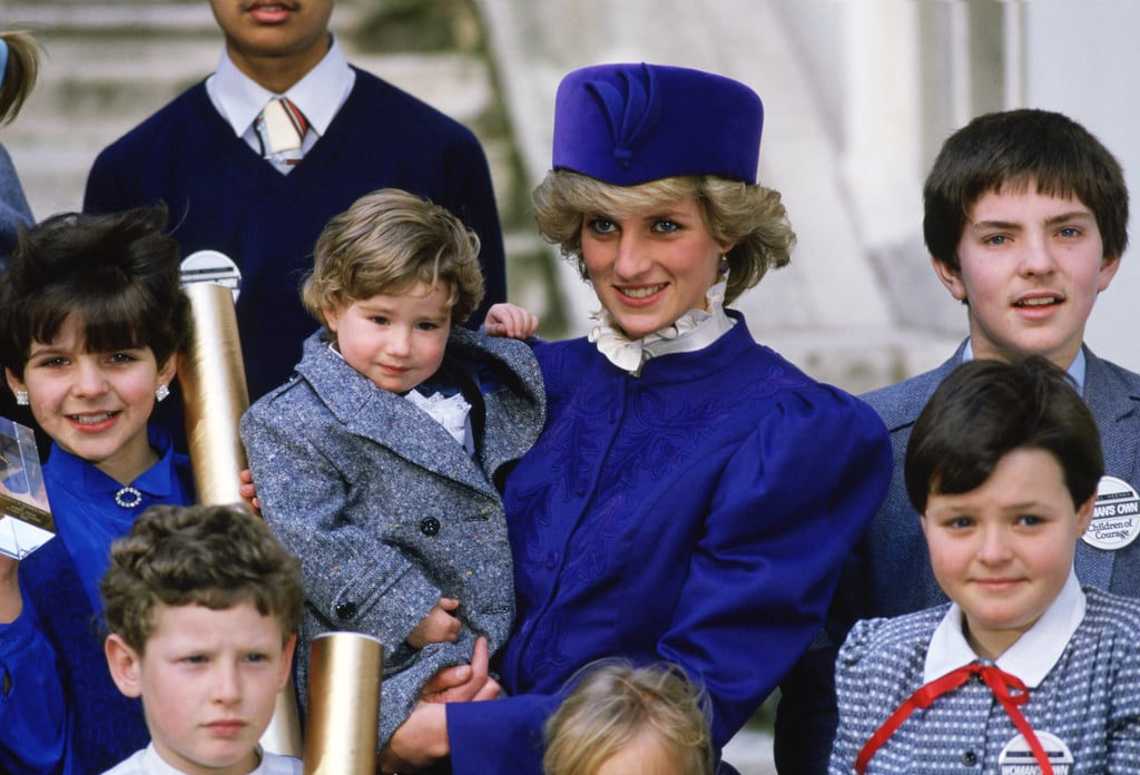 Diana met with children nominated for Children of Courage Awards at Westminster Abbey in December 1985.