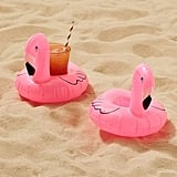 Urban Outfitters Flamingo Drink Holder Pool Float Set ($12)