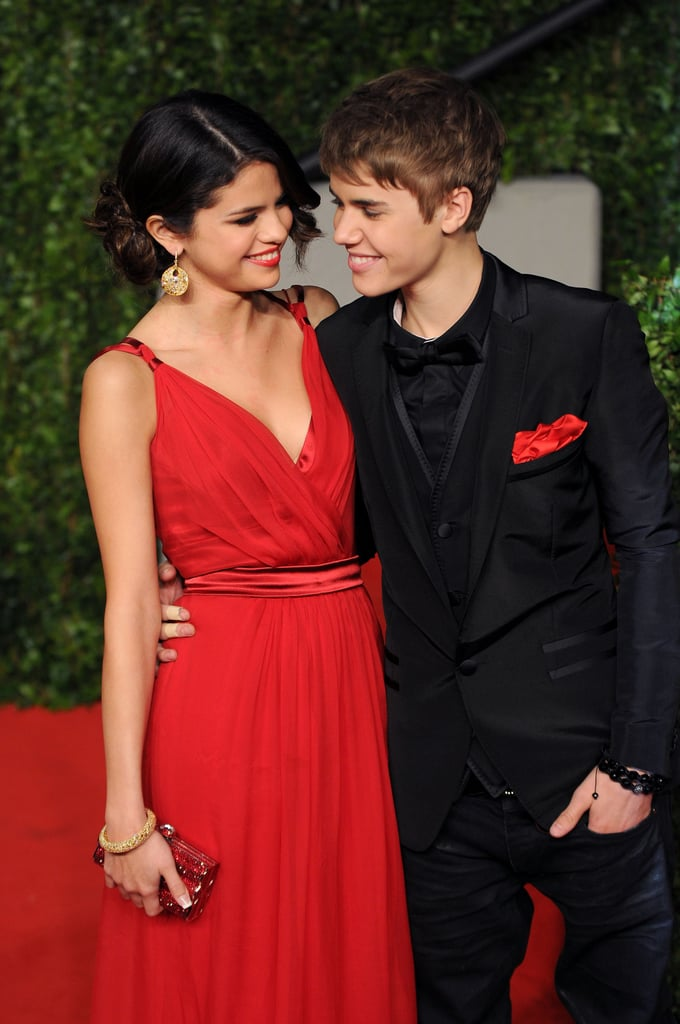 Justin and Selena got glamorous for Vanity Fair's Oscars afterparty in February 2011 — their first public appearance as a couple.