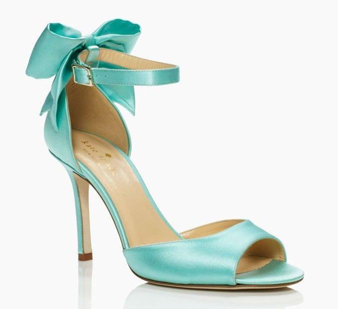 Kate Spade Blue Izzie Bow Ankle-Strap Heels