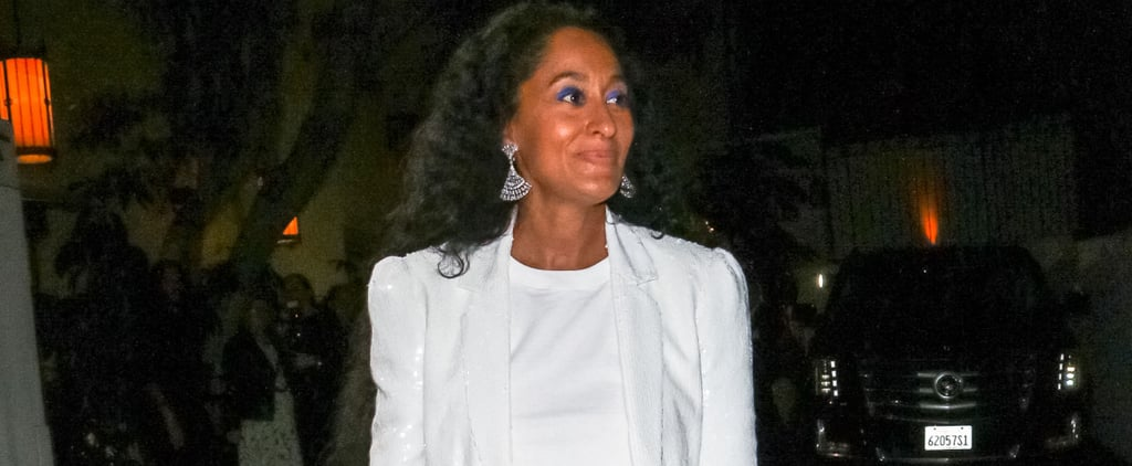 Tracee Ellis Ross Sequin Suit and Sneakers January 2019