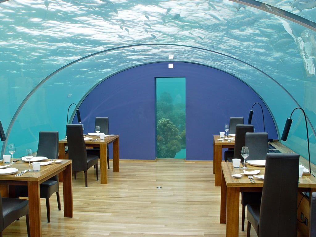 underwater restaurant disney world. Ithaa Undersea Restaurant At Conrad Maldives Rangali Island (The Maldives) Underwater Disney World