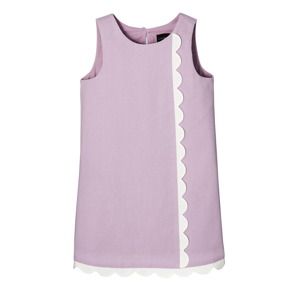 Toddler Girls' Mauve Dress with Asymmetric Scallop Trim ($23)