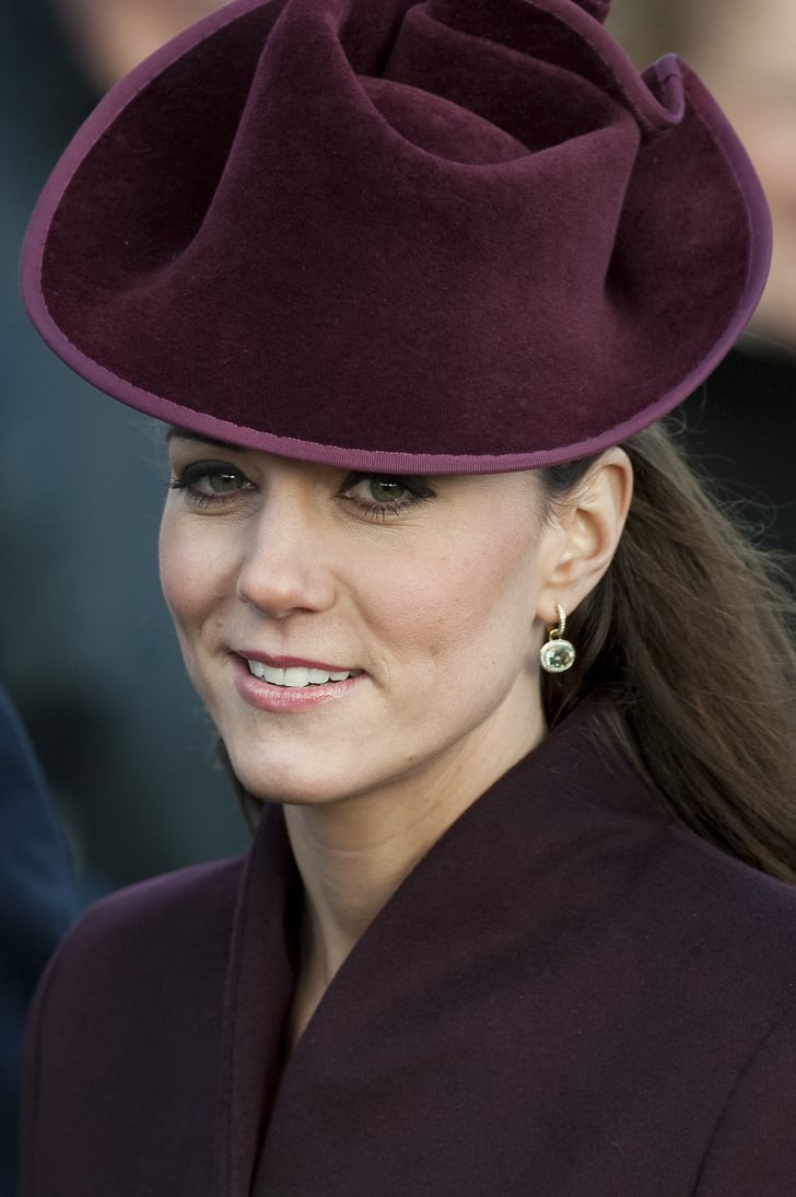 The First Time Kate Wore Her Green Amethyst And Diamond