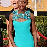 Emma Thompson photobombed Lupita Nyong'o at the SAGs, and it was awesome.