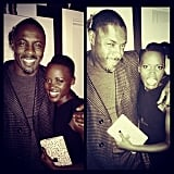 Lupita got up and close personal while snapping selfies with Idris Elba at a Golden Globes event. Source: Instagram user lupitanyongo