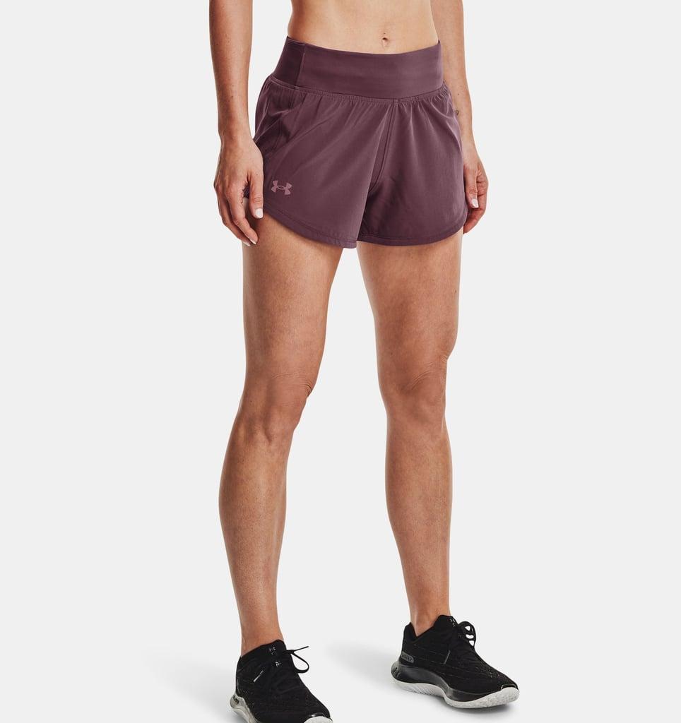 Women's UA Speedpocket Shorts: Front View