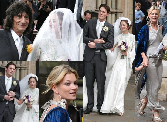 Kate Moss Arrived Late for Rolling Stone Ronnie Wood's Daughter Leah Wood's Wedding