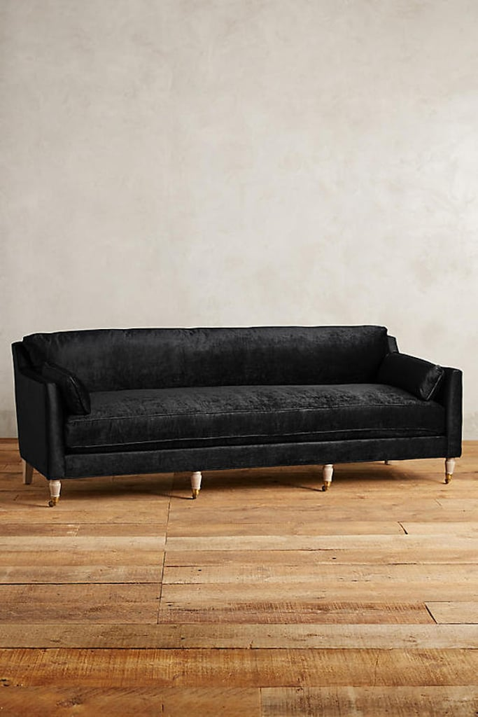 Anthropologie Slub Velvet Leonelle Sofa