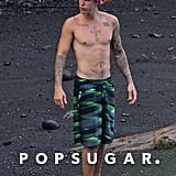Justin Bieber Shirtless Pictures in Hawaii August 2016