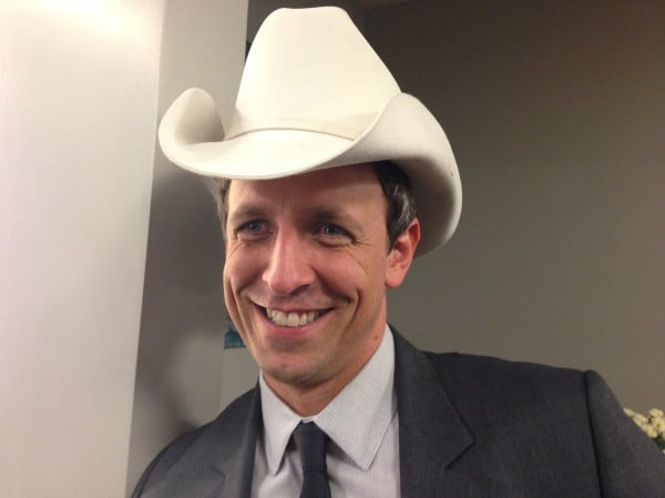 Brad Paisley shared a photo of Seth Meyers in a cowboy hat. Source  Twitter b5056468f66