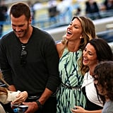 Tom Brady and Gisele Bündchen laughed with friends at the game.