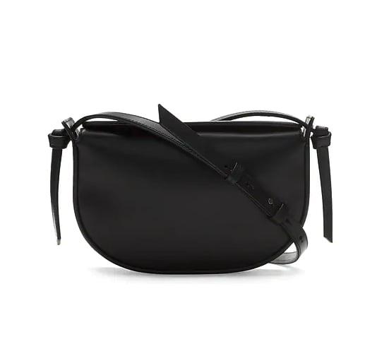 Italian Leather Structured Half Moon Bag
