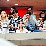 Nick Jonas and Priyanka Chopra at the US Open September 2018