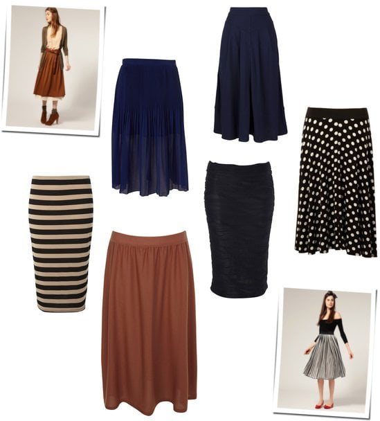 Midi Length Skirts for Spring 2011 from ASOS, Topshop and More