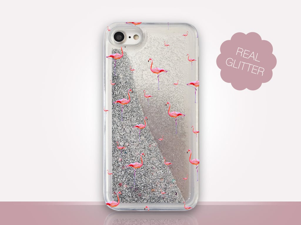 Flamingo Glitter Case ($27)