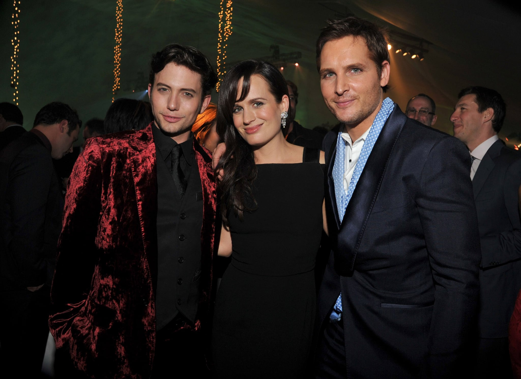 Peter Facinelli and Jackson Rathbone posed with Elizabeth Reaser at the Breaking Dawn afterparty.