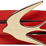 McQ by Alexander McQueen Red Leather Wrap Swallow Bracelet ($95)