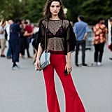Red flared trousers for Summer? It's a do from us.