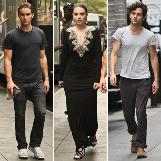 Chace Crawford and Penn Badgley Filming Gossip Girl Pictures